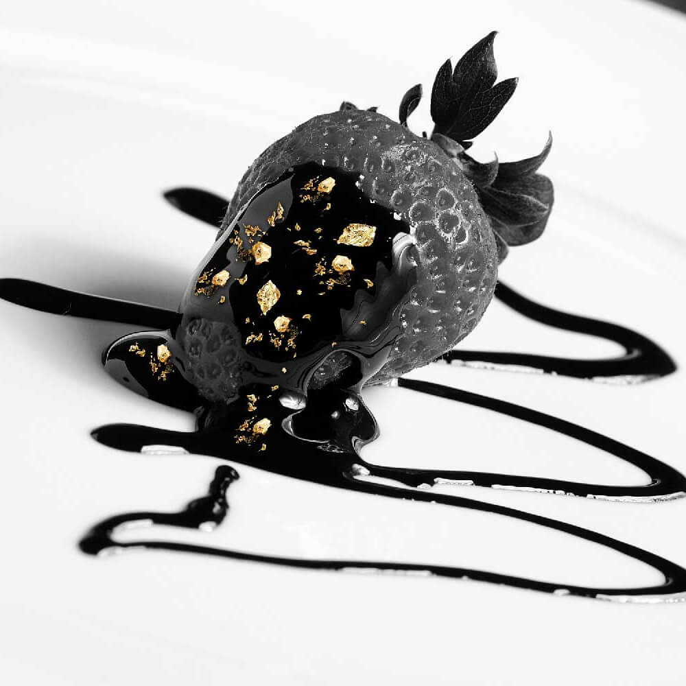 Oro alimentare edibile e frutta