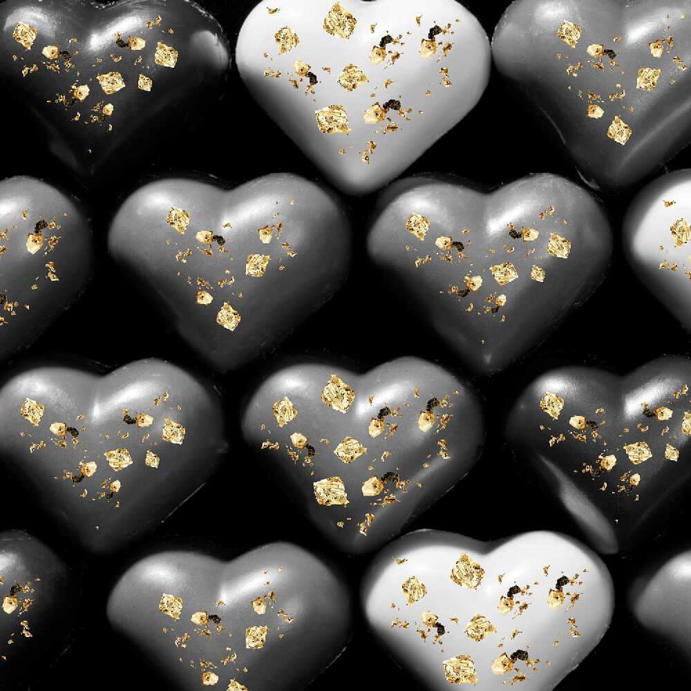 Oro alimentare edibile e cioccolata