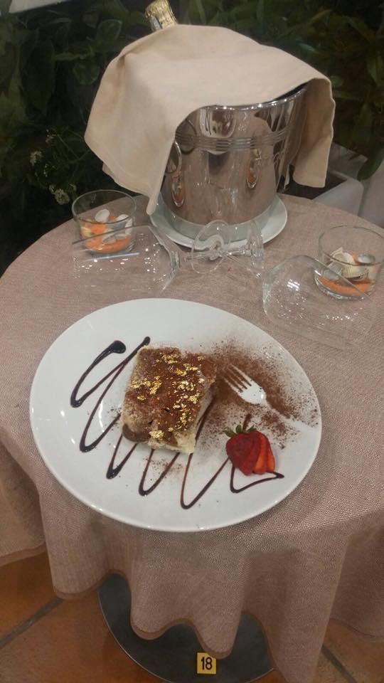 Tiramisu con oro alimentare Goldeat